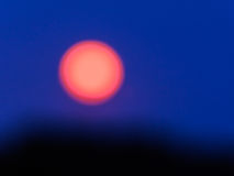 Strawberry Moonrise in Abstract Stock Images