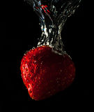 Strawberry in motion Royalty Free Stock Image