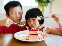 Strawberry mouse with kids Stock Image