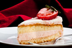 Strawberry mousse Royalty Free Stock Photography