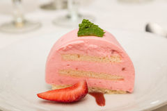 Strawberry Mousse with Berry Royalty Free Stock Photos