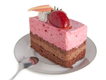 Strawberry mousse cake Royalty Free Stock Photography