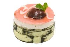 Strawberry mousse cake isolated Royalty Free Stock Photos