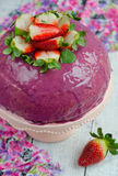 Strawberry mousse cake Stock Photography