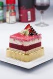 Strawberry Mousse Cake Stock Photography