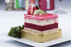 Strawberry Mousse Cake Royalty Free Stock Images