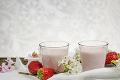 Strawberry mousse coctail Stock Image