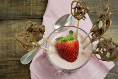 Strawberry mousse coctail Stock Images