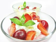 Strawberry mousse dessert Royalty Free Stock Photography