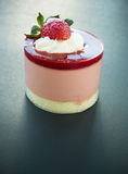 Strawberry mousse Stock Photography