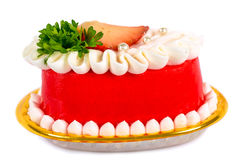 Strawberry mousse redberry on white backgound. Royalty Free Stock Photos