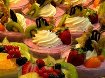 Desserts on Display in Department Store Restaurant and Bake Shop royalty free stock image