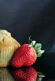 Strawberry Muffin Stock Photography