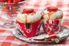 Strawberry muffin Royalty Free Stock Images