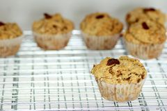 A strawberry muffin Royalty Free Stock Photo