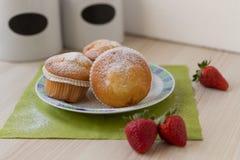 Strawberry muffin Stock Photo