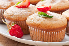 Strawberry muffin Royalty Free Stock Photos