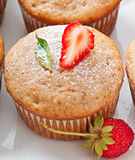 Strawberry muffin Stock Photos