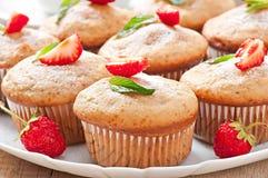 Strawberry muffin Stock Photos