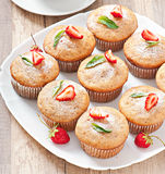 Strawberry muffin Royalty Free Stock Photography