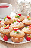Strawberry muffin Stock Images