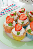 Strawberry muffins Stock Images