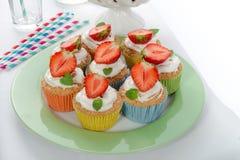 Strawberry muffins Stock Image