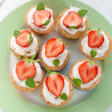 Strawberry muffins Stock Photos