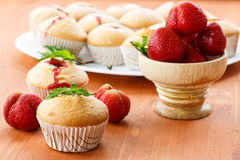 Strawberry muffins Royalty Free Stock Image