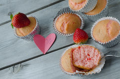 Strawberry muffins Stock Image