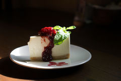 Strawberry Newyork cheese cake Stock Photography