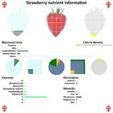 Strawberry nutrient information Stock Photo