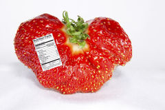 Strawberry with Nutrition Label Royalty Free Stock Images