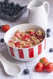 Strawberry oat clusters Stock Photo