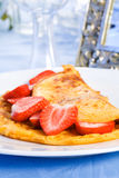 Strawberry omelette Royalty Free Stock Images