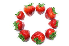 Free Strawberry  On White Background Top View Royalty Free Stock Images - 64448779