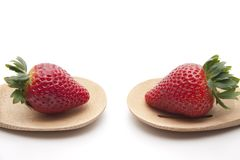 Strawberry onto cook spoons Royalty Free Stock Photography