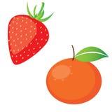 Strawberry and orange Stock Photo