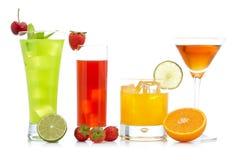 Strawberry, orange and kiwi juice Royalty Free Stock Images