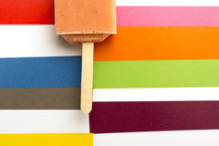 Strawberry, Orange, Pineapple, Mango Fruit Popsicles Shot From Above Royalty Free Stock Image
