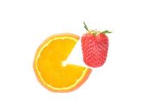 Strawberry and orange slice Stock Photography