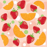Strawberry and oranges Royalty Free Stock Photo