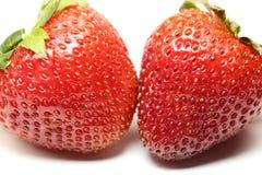 Strawberry pair Royalty Free Stock Image