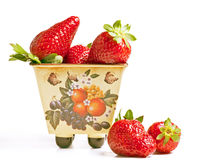 Strawberry in a pan Royalty Free Stock Photos