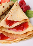 Strawberry pancake Stock Photography