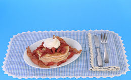 Strawberry Pancake Breakfast Stock Image