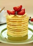 Strawberry Pancake Stack Stock Photos