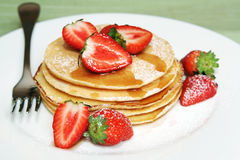 Strawberry Pancakes Stock Photos