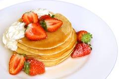 Strawberry Pancakes Royalty Free Stock Image