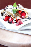 Strawberry pancakes Stock Image